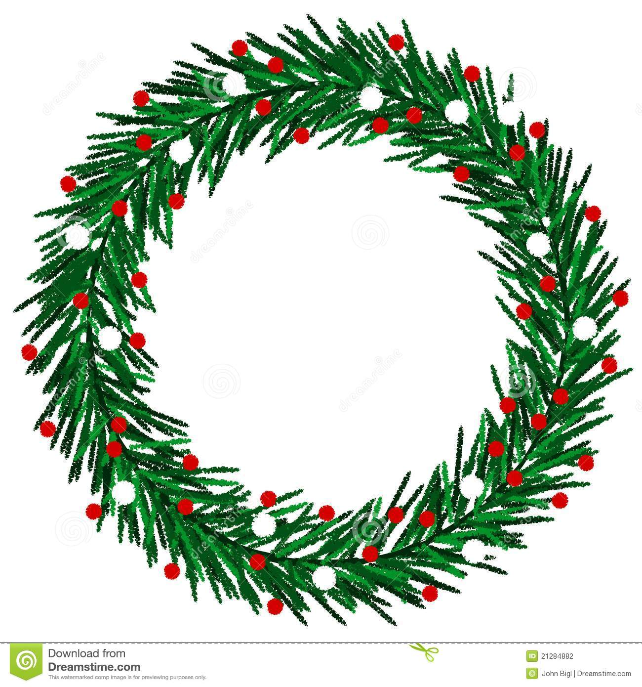 Christmas Wreath Drawing at GetDrawings.com | Free for personal use ...