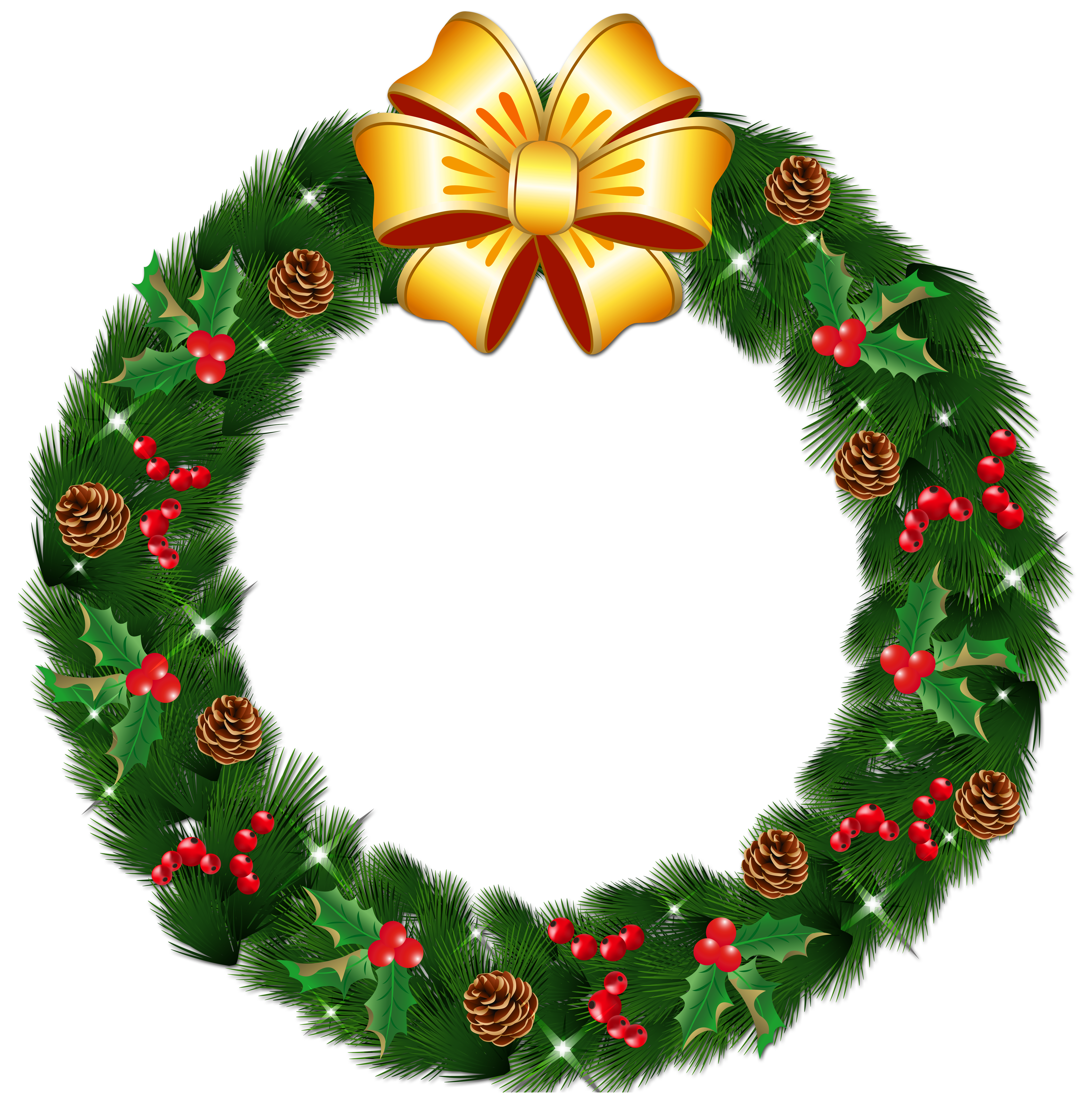 Christmas Wreath Clipart at GetDrawings.com | Free for personal use ...