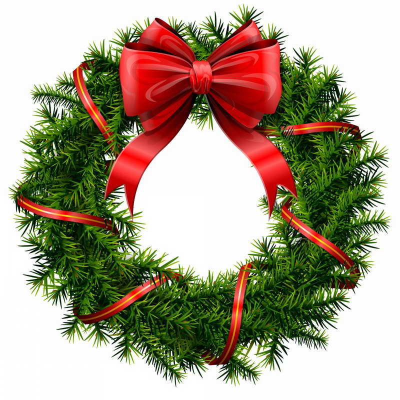 christmas wreath clipart at getdrawings com free for personal use rh getdrawings com wreath clip art free wreath clip art green