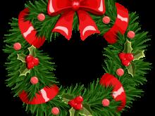 220x165 Christmas Wreath Clipart Christmas Wreath Over White Eps 8 Ai Jpeg
