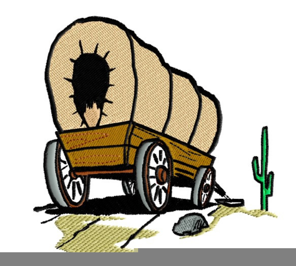 600x538 Covered Wagon Clip Art Detailed