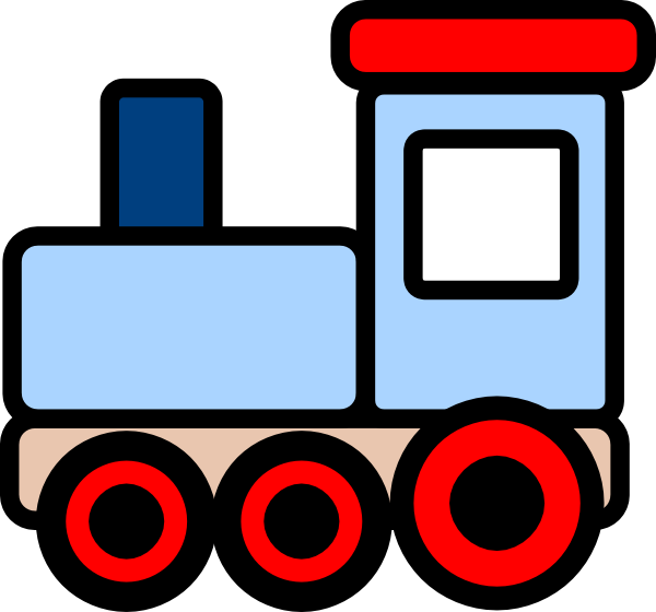 600x560 Little Blue Train Clip Art