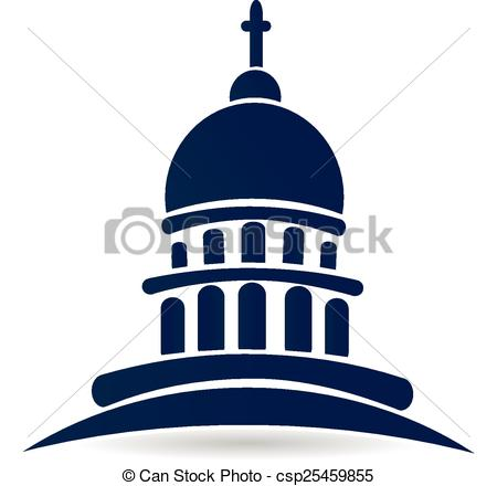 450x440 Church Temple Capitol Building Logo. Church Temple Capitol