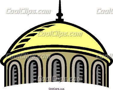 375x299 Dome Building Clipart