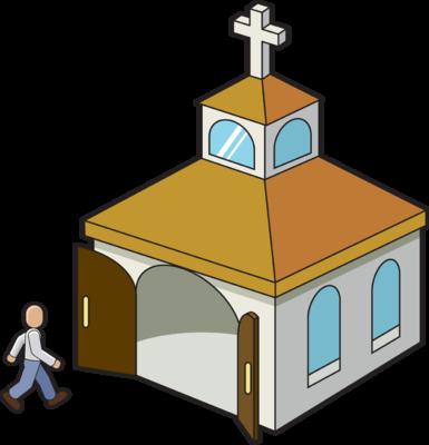 385x400 Image Going To Church Church Clip Art