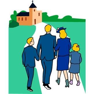 325x325 Clipart Family Going To Church