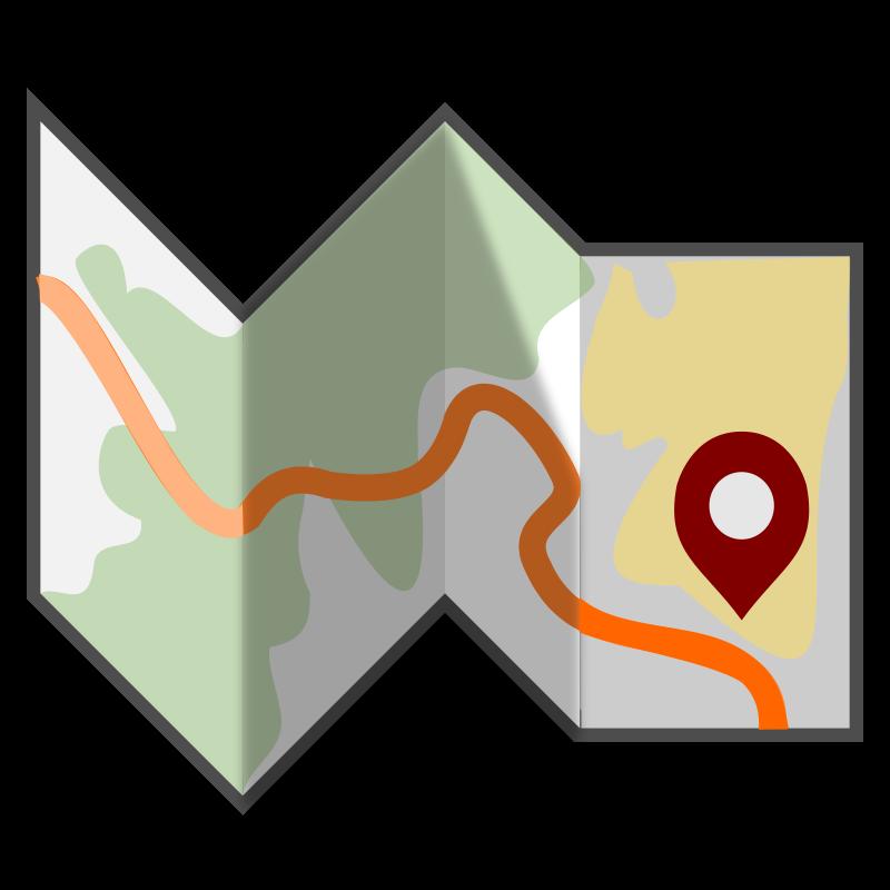 800x800 Free Folded Travel Map Clip Art Jaryhp Clipart