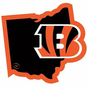 300x300 Cincinnati Bengals 11 Home State Magnet Ohio Shape Nfl Licensed