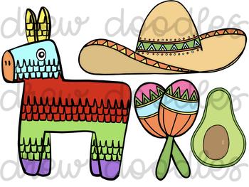 350x263 Fiesta Cinco De Mayo Digital Clip Art Set By Drew Doodles Tpt