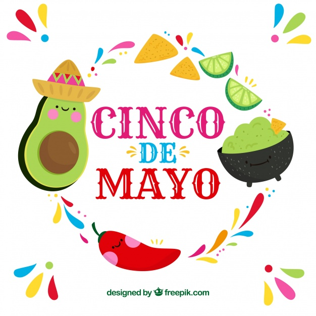 626x626 Cinco De Mayo Background With Mexican Food Vector Free Download