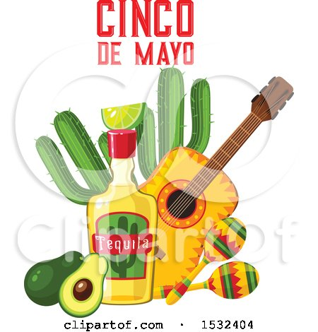 450x470 Clipart Of A Cinco De Mayo Design