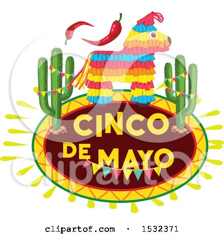 450x470 Clipart Of A Cinco De Mayo Pinata