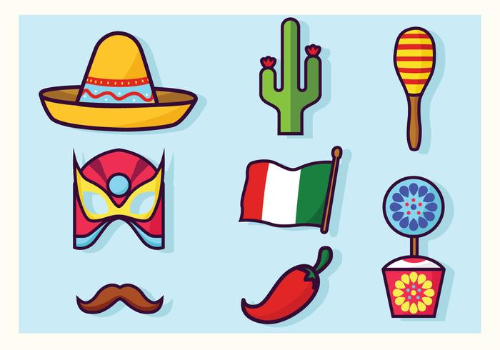 700x490 Cinco De Mayo Decorations Vector Pack
