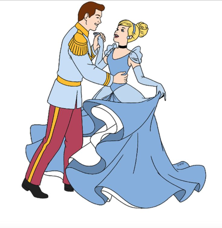 Cinderella And Prince Charming Clipart