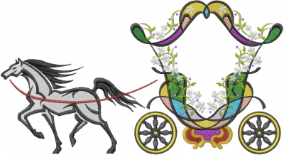 400x218 Cinderella Carriage Embroidery Design Annthegran