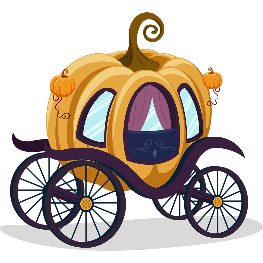 1024x1024 Cinderella Carriage Pumpkin Cartoon Clip Art