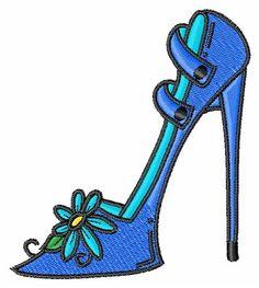 236x263 Instant Download Cinderella's Glass Slipper Machine Embroidery