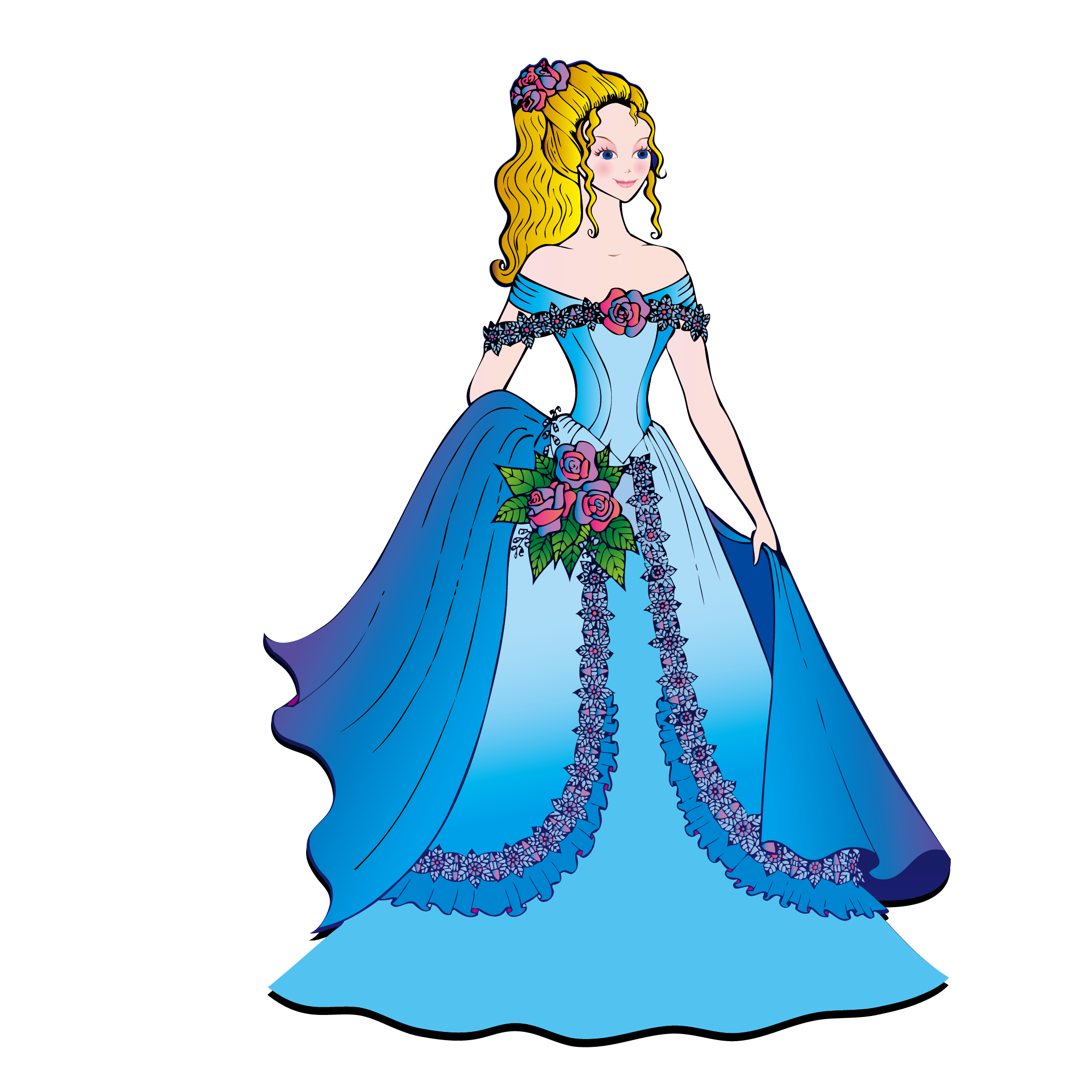 2126x2126 Attractive Prom Dress Clip Art Image Collection