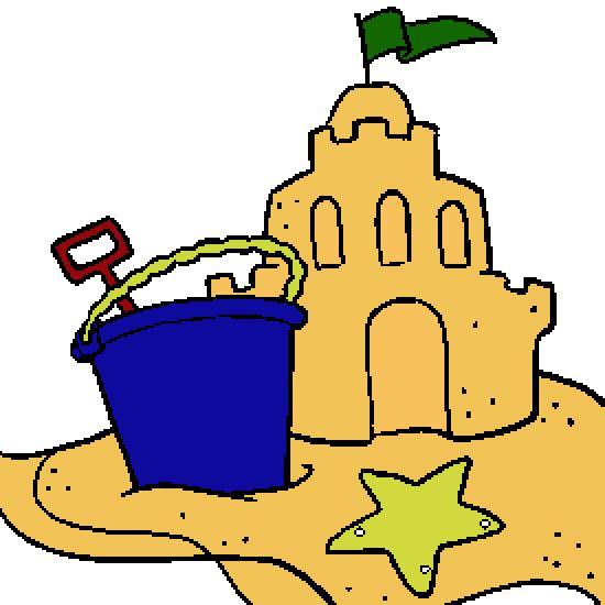 550x550 Sand Castle Clipart