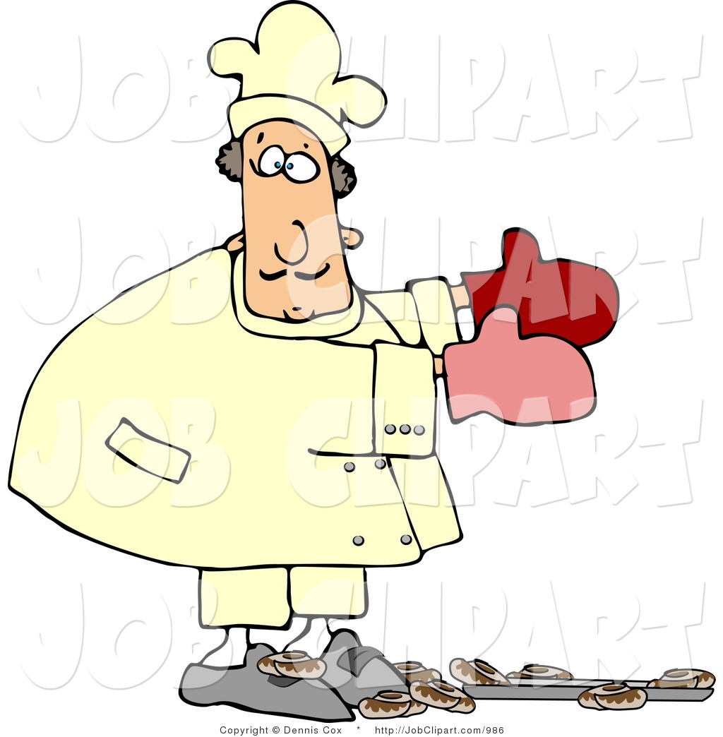 1024x1044 Job Clip Art A Baker In Uniform Accidentally Dropping A Pan