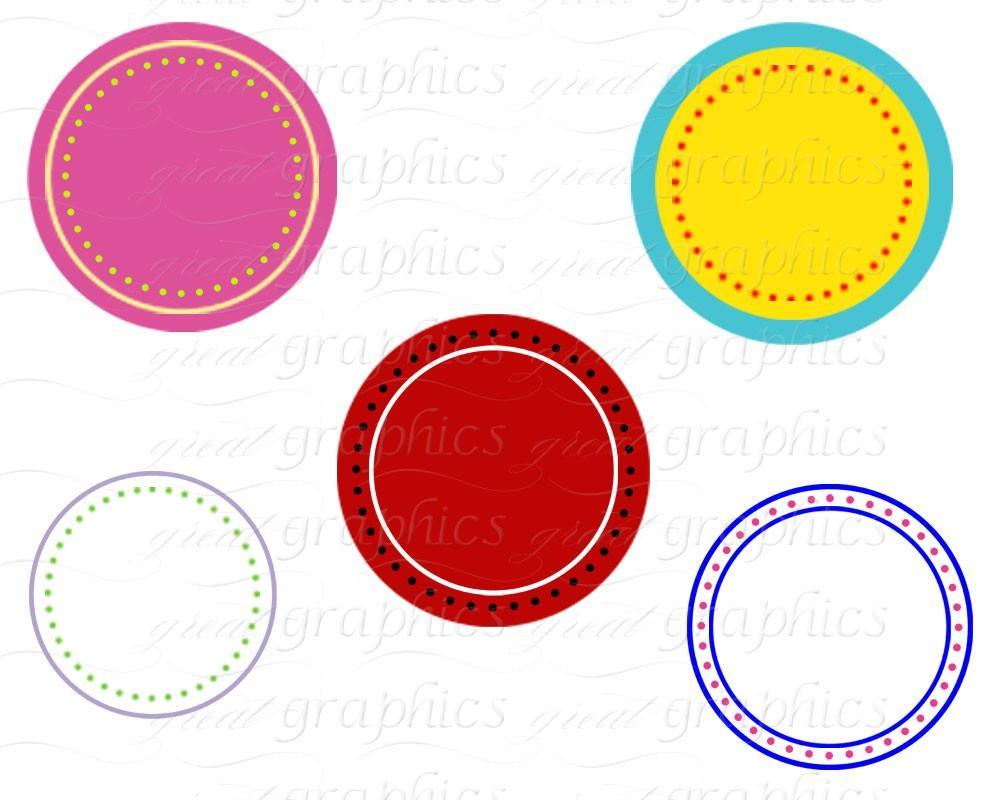 1000x800 Circle Frame Digital Clipart Frame Clip Art Printable Dot Circle