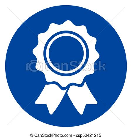 450x470 Illustration Of Blue Circle Medal Icon Vector Clip Art