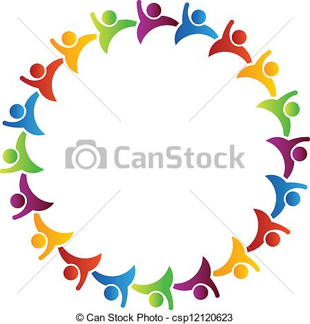 449x470 Circle People Clipart
