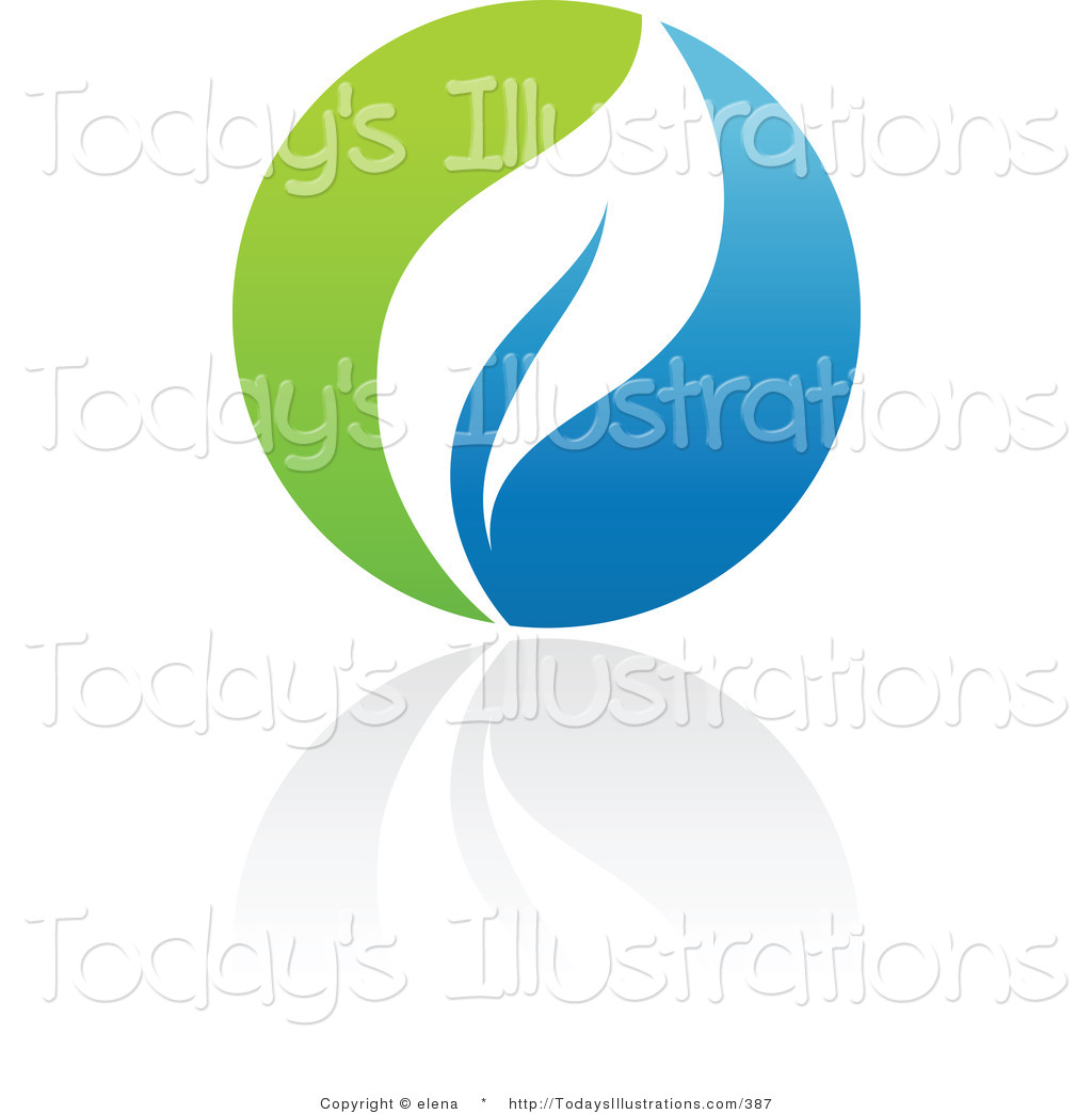 1024x1044 Clipart Of A Blue And Green Organic And Ecology Leaf Circle Logo