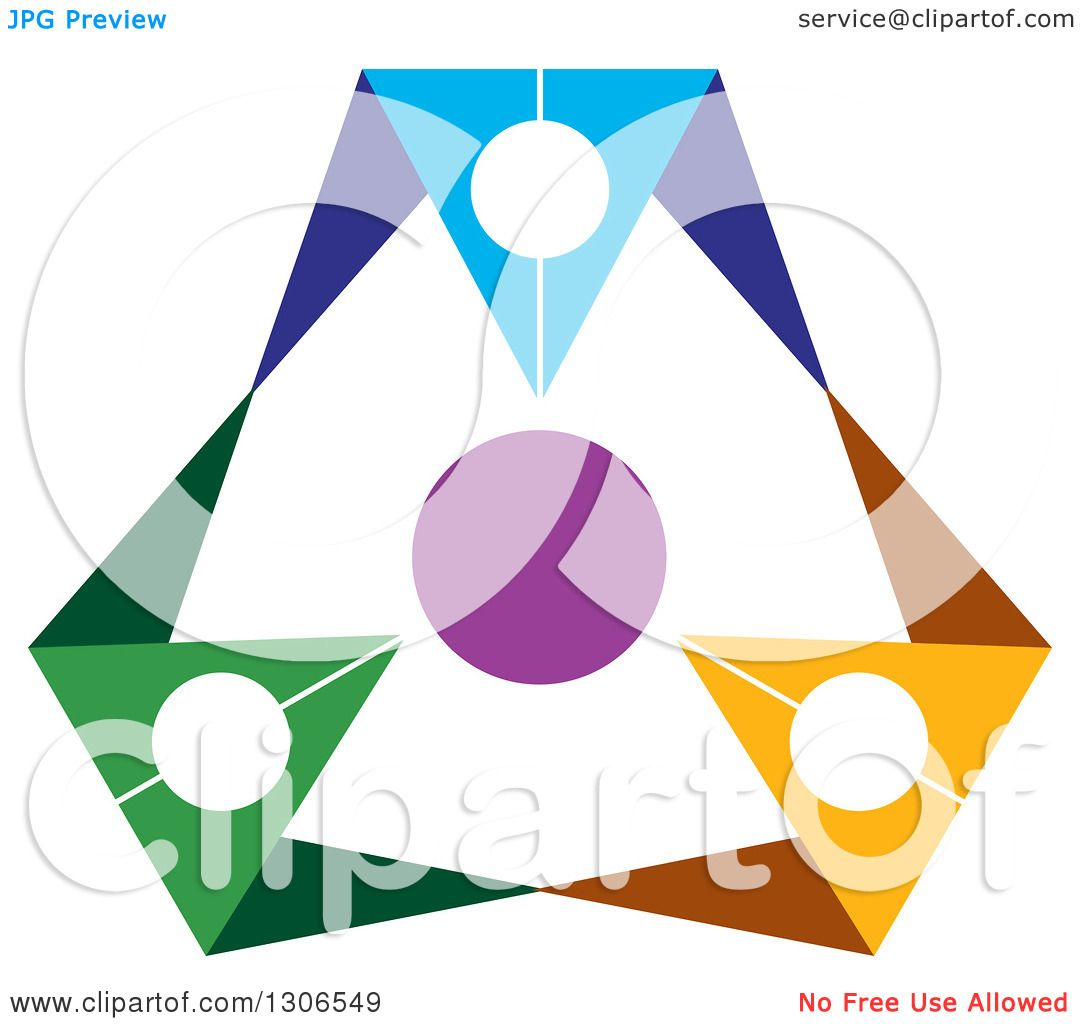 1080x1024 Clipart Of A Colorful Abstract Design Of A Circle Of People 2