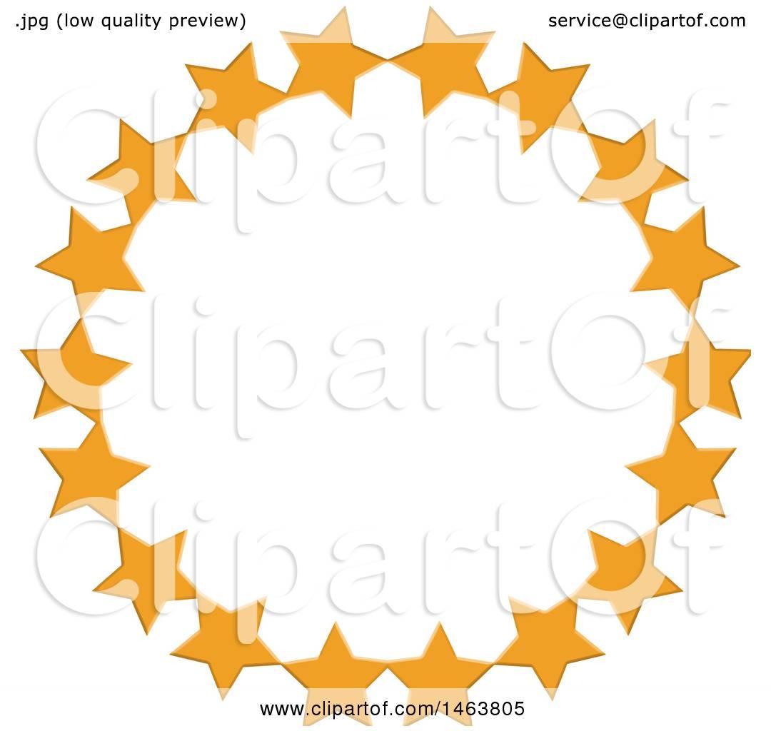 1080x1024 Clipart Of A Round Orange Star Circle Frame Border Design Element