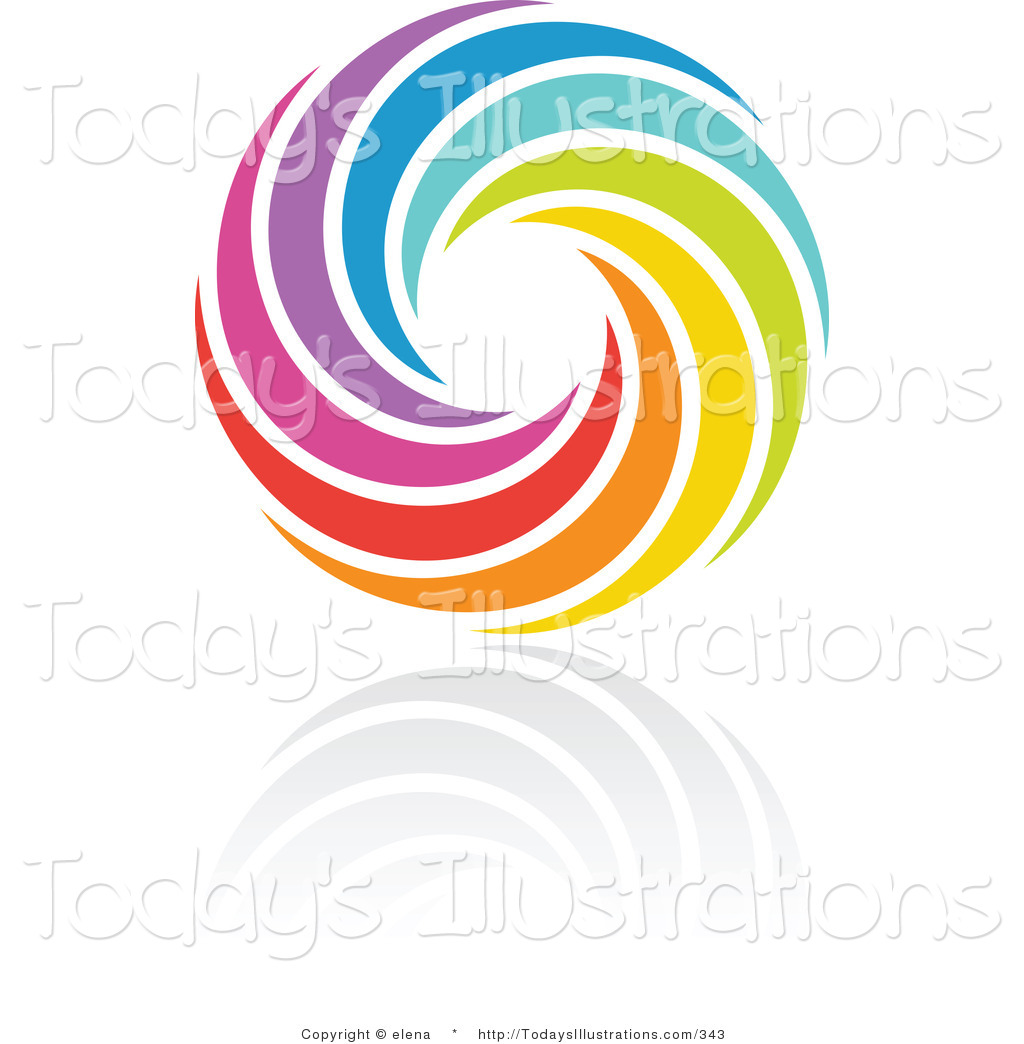 1024x1044 Clipart Of A Swirling Rainbow Circle Logo Design Or App Icon By