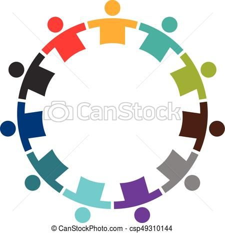 450x465 Eps Vector Of Team Of Eleven People In A Round.logo Design