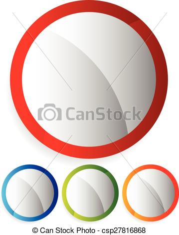 359x470 Empty Circle Buttons, Badges. Colorful, Bright Design Clip Art