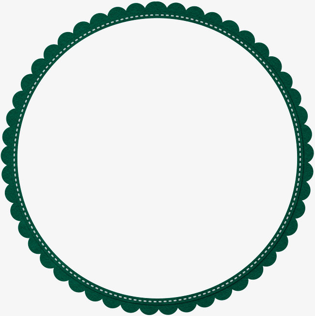 650x651 Green Simple Lace Circle Border Texture, Green, Simple, Lace Png