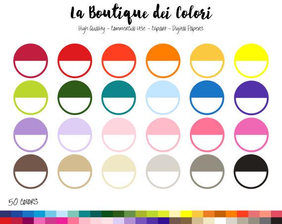 570x453 50 Rainbow Half Circle Clip Art, Banners Digital Illustrations Png