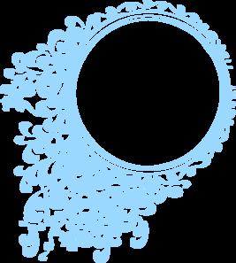 267x297 Robin Blue Circle Frame Clip Art