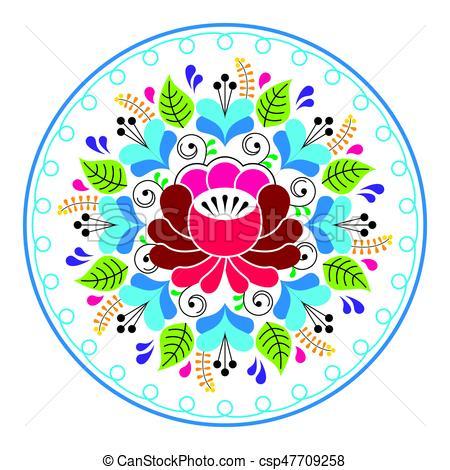 450x470 Russian Folk Art Pattern