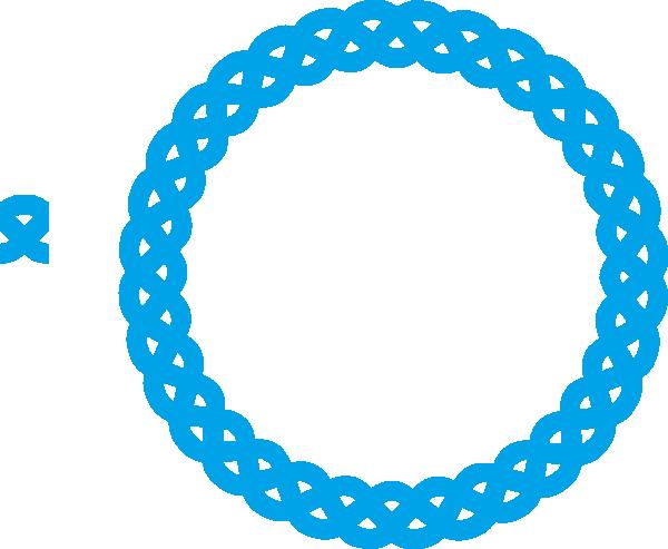 600x493 Blue Round Frame Clip Art