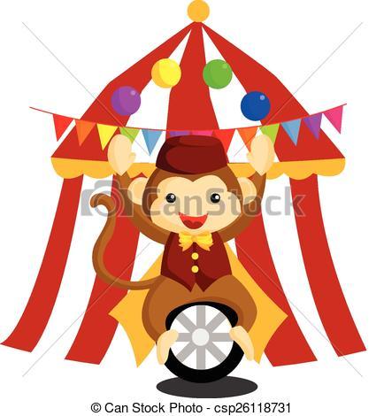 434x470 Circus Monkey Vectors