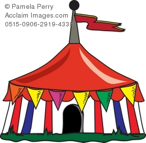 300x293 Clip Art Illustration Of A Circus Tent