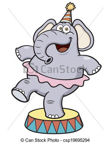 365x470 Vector Illustration Of Cartoon Elephant Circus Eps Vectors