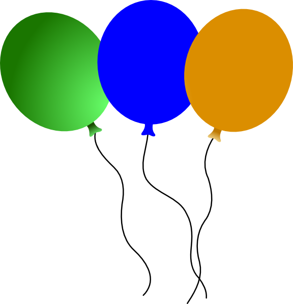 576x598 Circus Balloons Clip Art