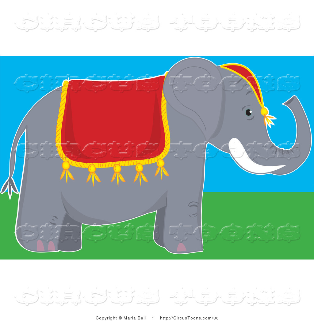 1024x1044 Circus Clipart Of Cute Gray Circus Elephant With Tusks Wearing