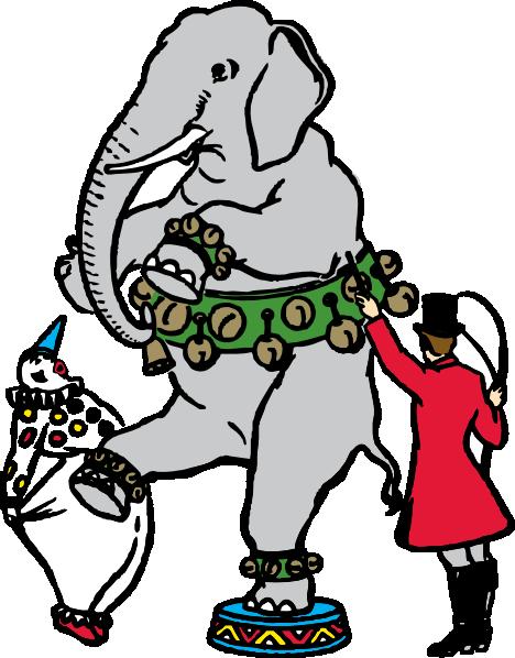 468x598 Circus Elephant Clip Art