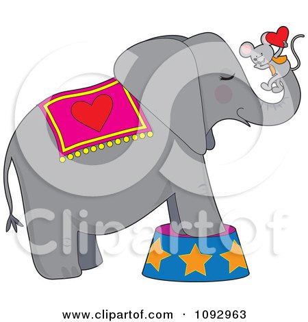 450x470 Royalty Free (Rf) Clipart Of Circus Elephants, Illustrations