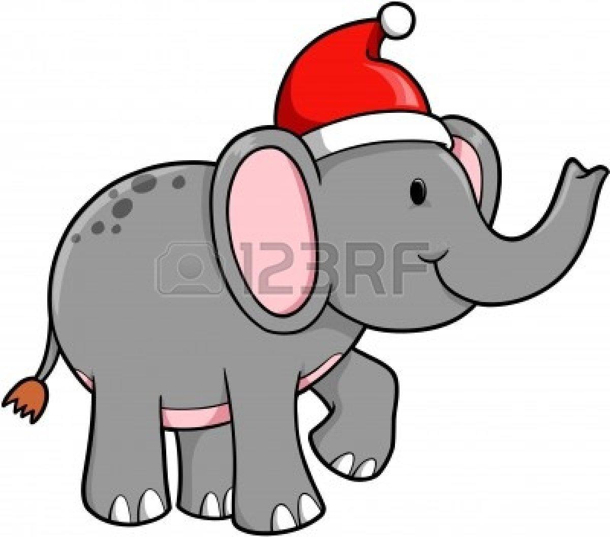 1200x1056 White Elephant Christmas Clip Art