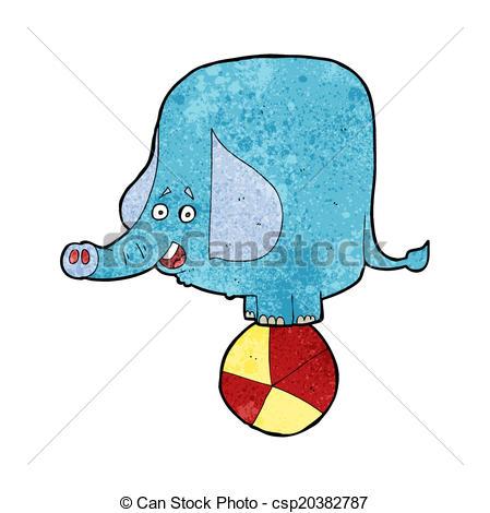 449x470 Cartoon Circus Elephant Vector