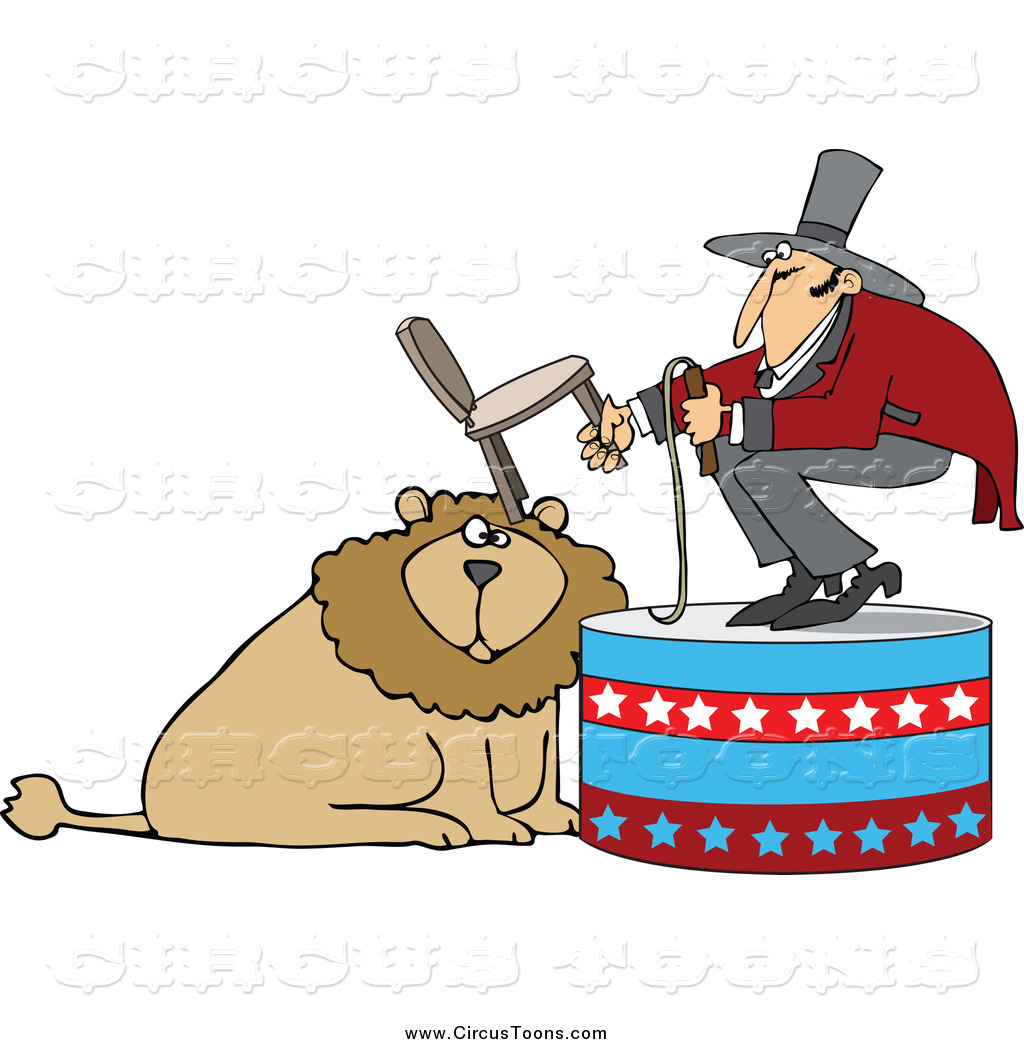 1024x1044 Circus Clipart Of Male Tamer Holding Chairnd Whip Over