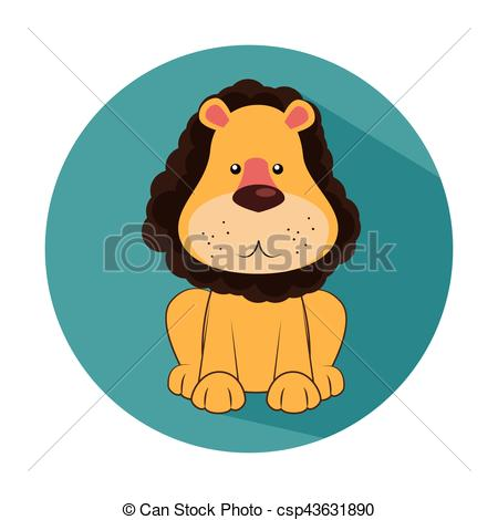 450x470 Funny Lion Circus Icon Vector Illustration Design Eps Vectors