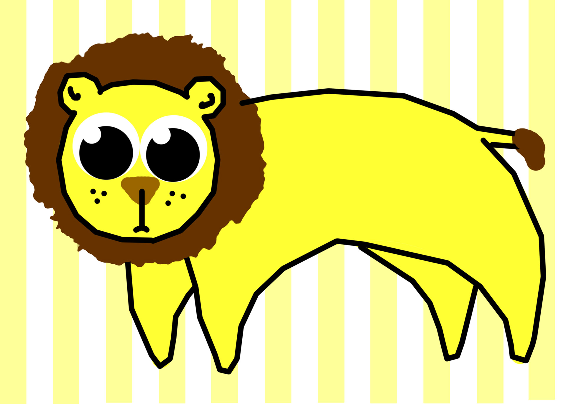 1920x1371 Lion Clip Art Free Stock Photo